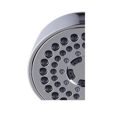 6-Spray 3.7 in. Single Wall Mount Handheld Adjustable Shower Head in Chrome