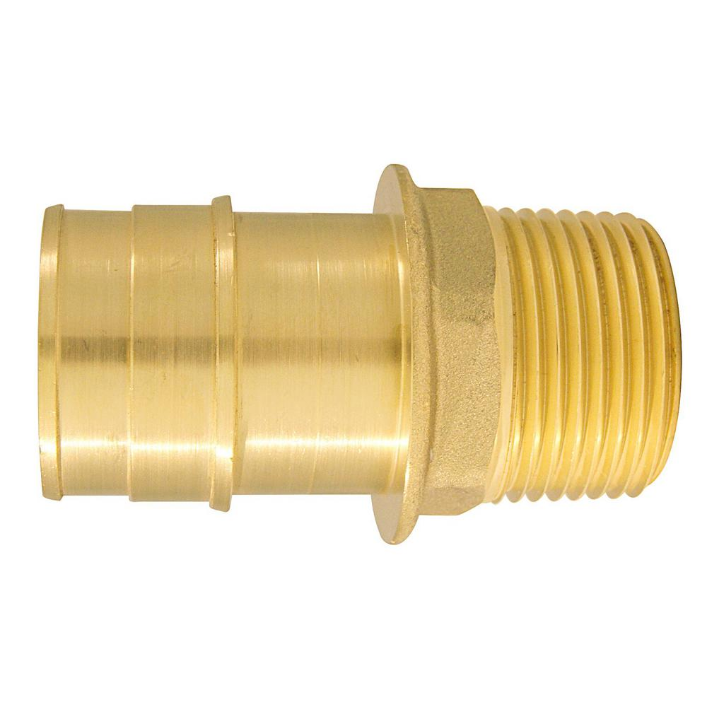 1 in. Brass PEX-A Expansion Barb x 3/4 in. MNPT Reducing