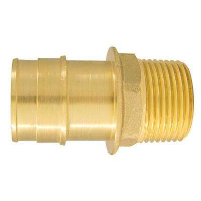 1 in. Brass PEX-A Expansion Barb x 3/4 in. MNPT Reducing Male Adapter