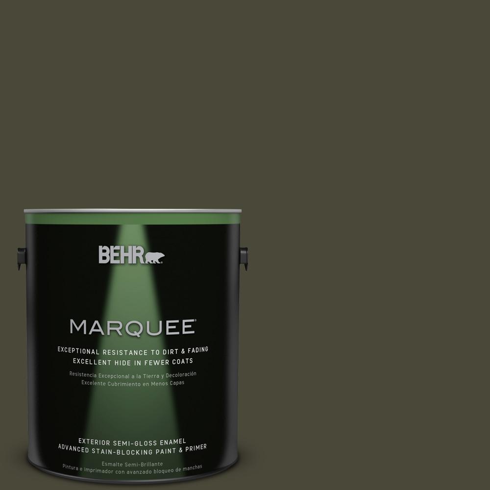 1 gal. #T18-11 Unplugged Semi-Gloss Enamel Exterior Paint
