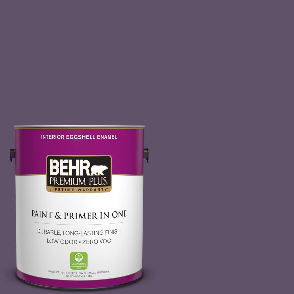1 gal. #PPU17-04 Darkest Grape Zero VOC Eggshell Enamel Interior Paint