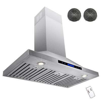 36 in. Convertible Kitchen Wall Mount Range Hood in Stainless Steel with Remote, Touch Control and Carbon Filter