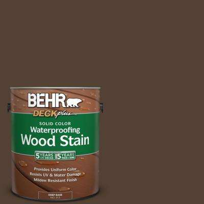 1 gal. #PPF-51 Dark Walnut Solid Color Waterproofing Exterior Wood Stain