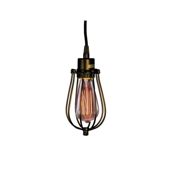 Edison Priscilla Collection 1 Light Antique Bronze Clear Glass Indoor Pendant Ld4030 The Home Depot