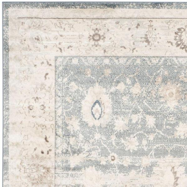 Safavieh Vintage Dark Blue Cream 4 Ft X 6 Ft Area Rug Vtg440g 4 The Home Depot