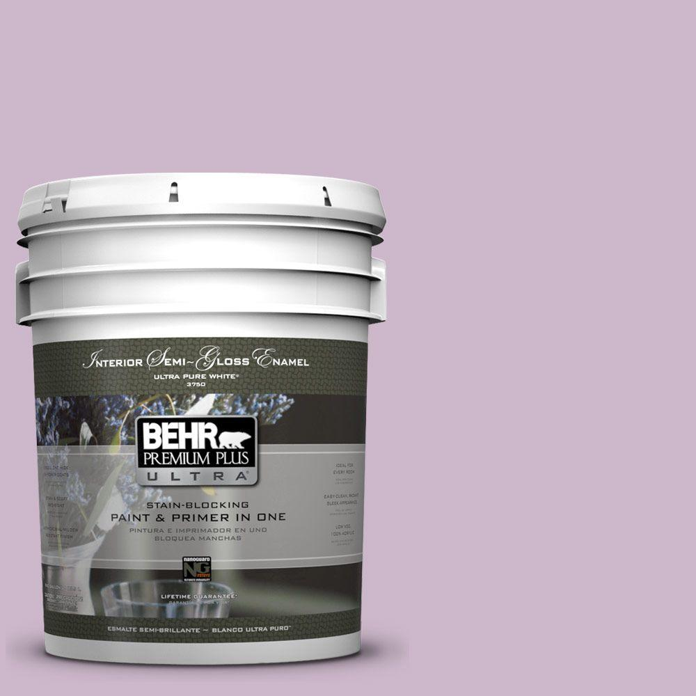 5 gal. #670D-4 Ballad Semi-Gloss Enamel Interior Paint and Primer in