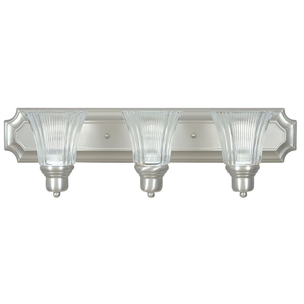 Denman 3-Light Satin Nickel Vanity Light
