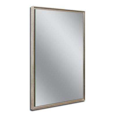 26 in. W x 38 in. H Champagne Studio Float Wall Mirror