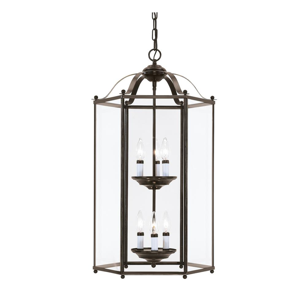 Bretton 6-Light Heirloom Bronze Hall-Foyer Pendant