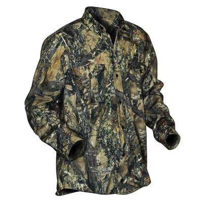Men's 2X-Large Camouflage Poly Cotton Button Down Shirt
