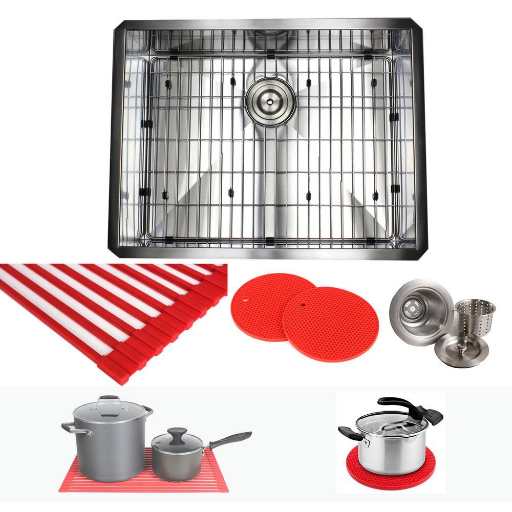 Kitchen Sink Hardware: Kingsman Hardware Undermount Stainless Steel 26 In. X 20