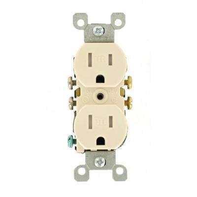 15 Amp Tamper Resistant Duplex Outlet, Light Almond
