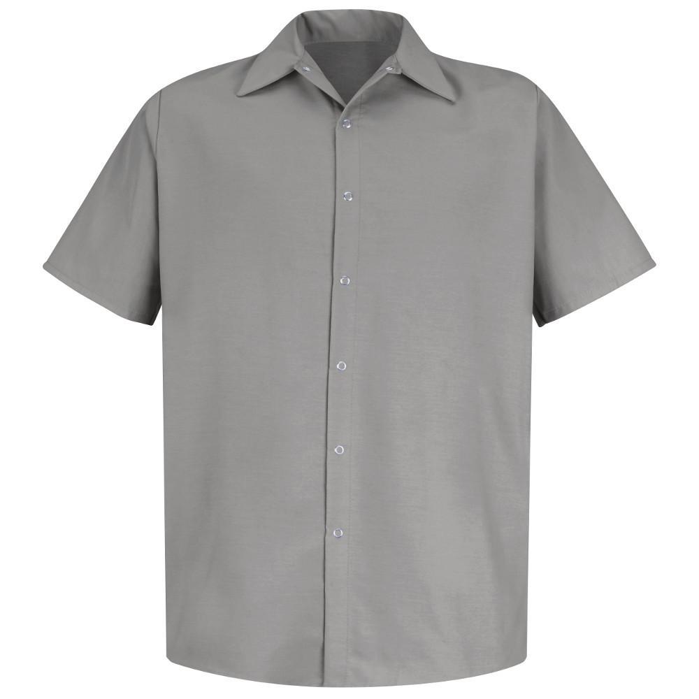 Men's Size 3XL Light Grey Specialized Pocketless Work Shirt