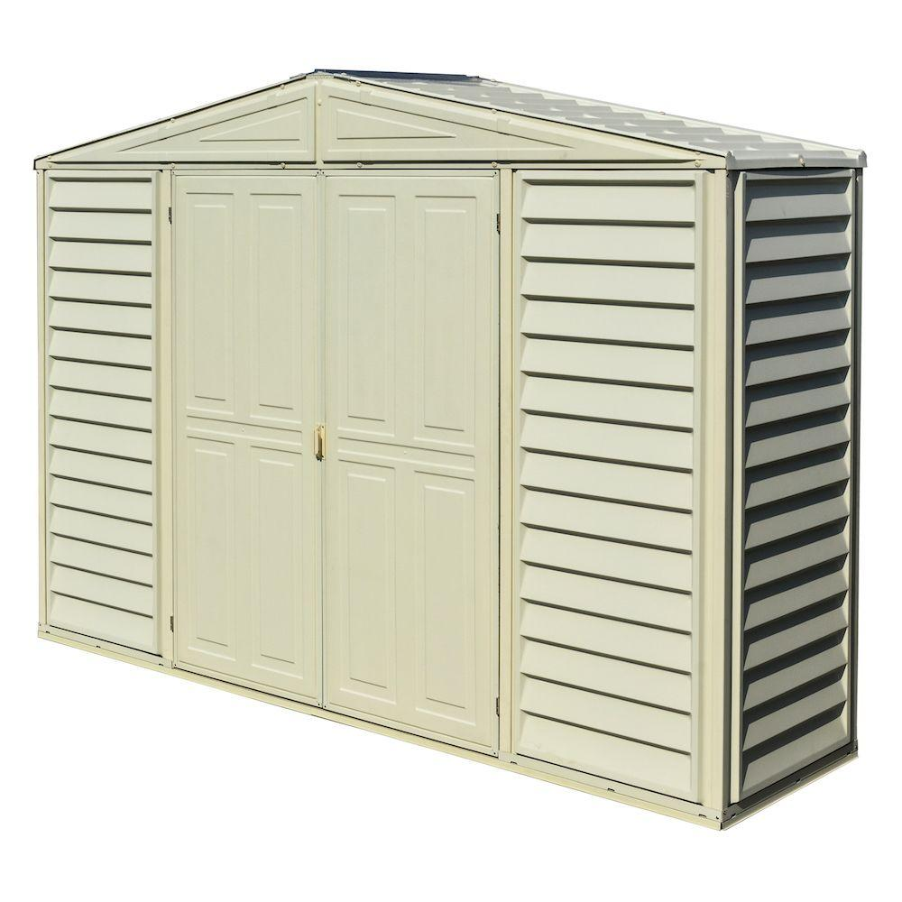 duramax building products sidepro 105 ft x 3 ft vinyl shed - Garden Sheds 8 X 3