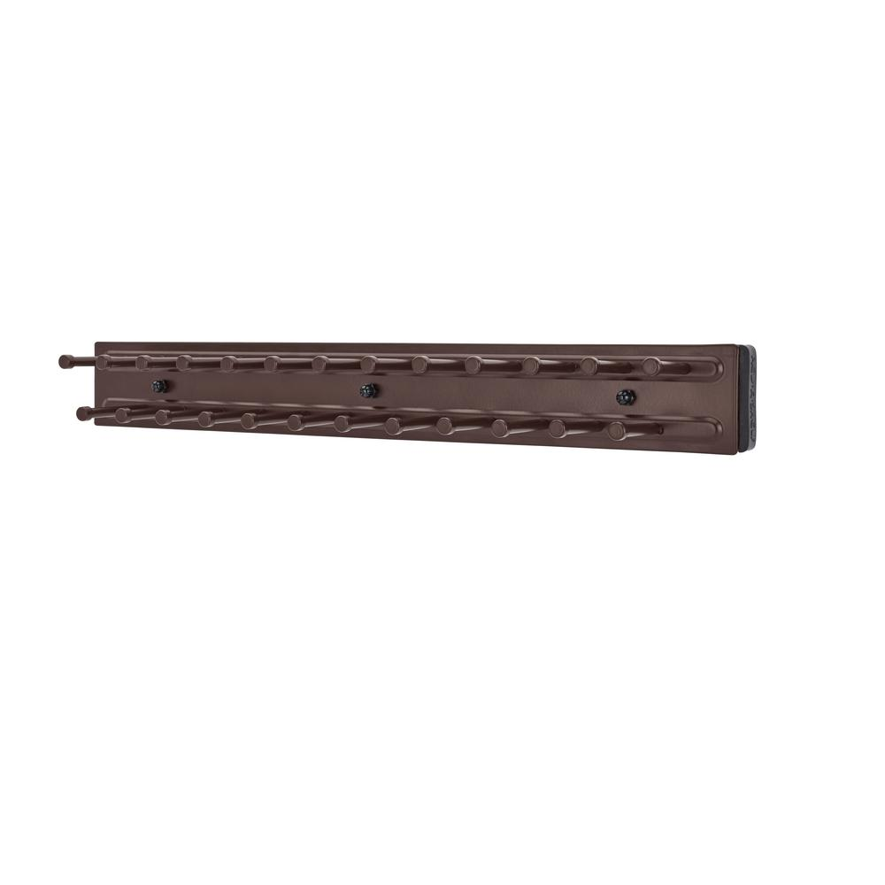 Rev-A-Shelf 2 in. H x 2 in. W x 14 in. D Oil Rubbed Bronze Pull-Out Side Mount 25-Hook Tie Rack
