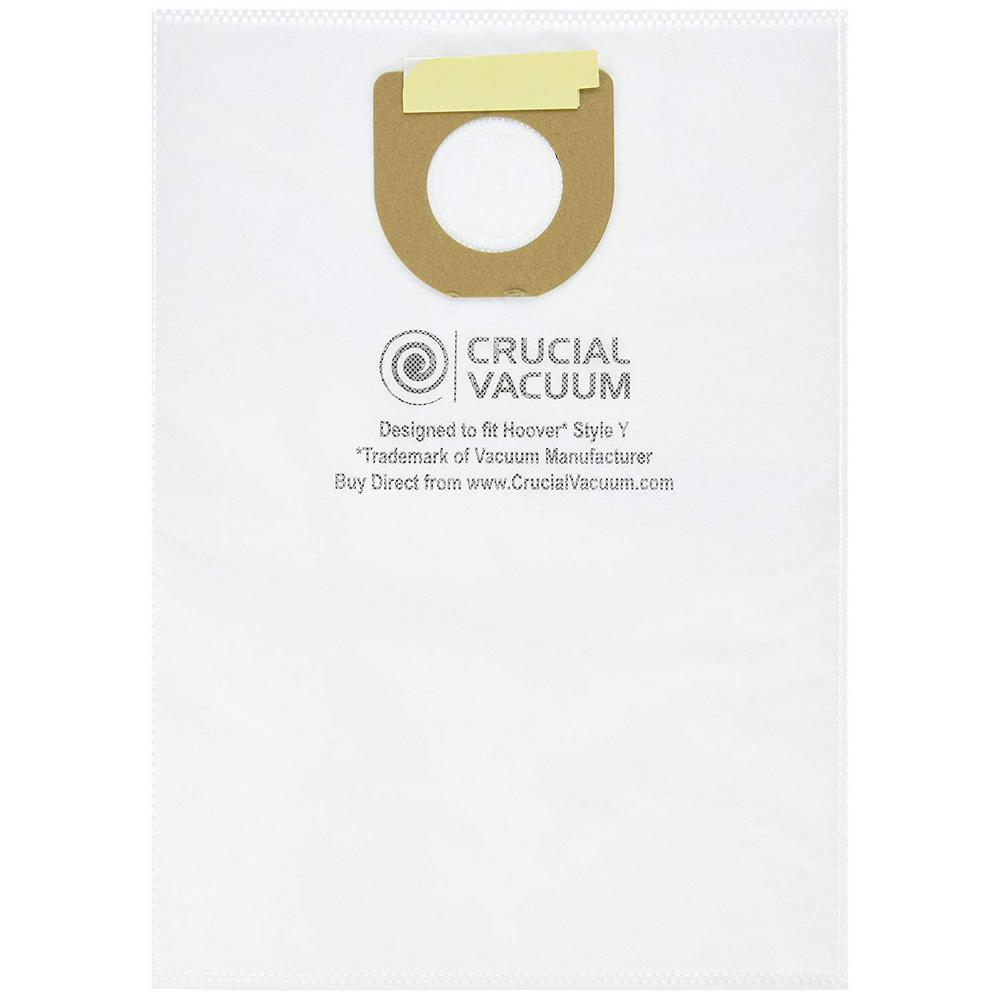 Think Crucial Type Y Windtunnel Cloth Bags Replacement For Hoover Part 4010100y 4010801y 43655082 9 Pack