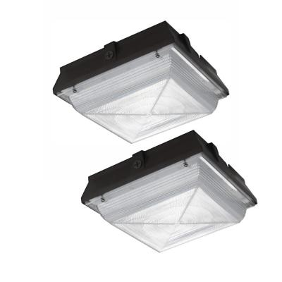 350-Watt Equivalent Integrated Outdoor LED Security Light, 5200 Lumens, Ceiling/Canopy Security Lighting (2-Pack)
