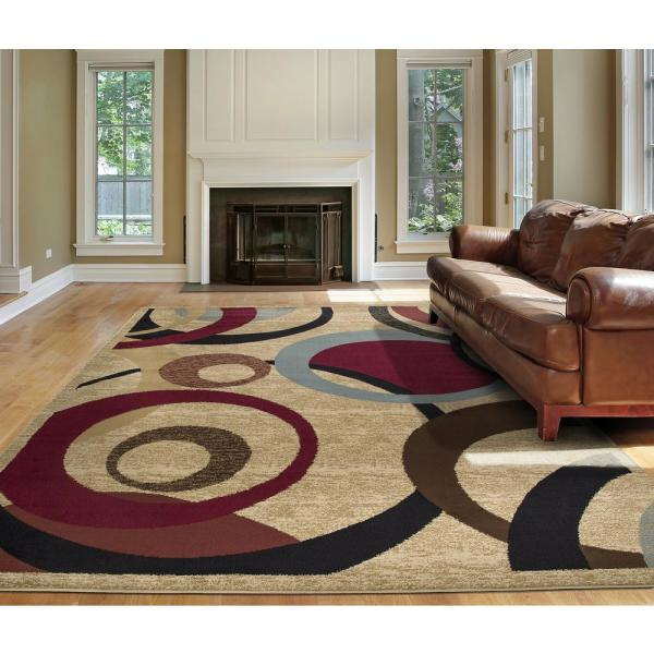 Ottomanson Contemporary Abstract Beige