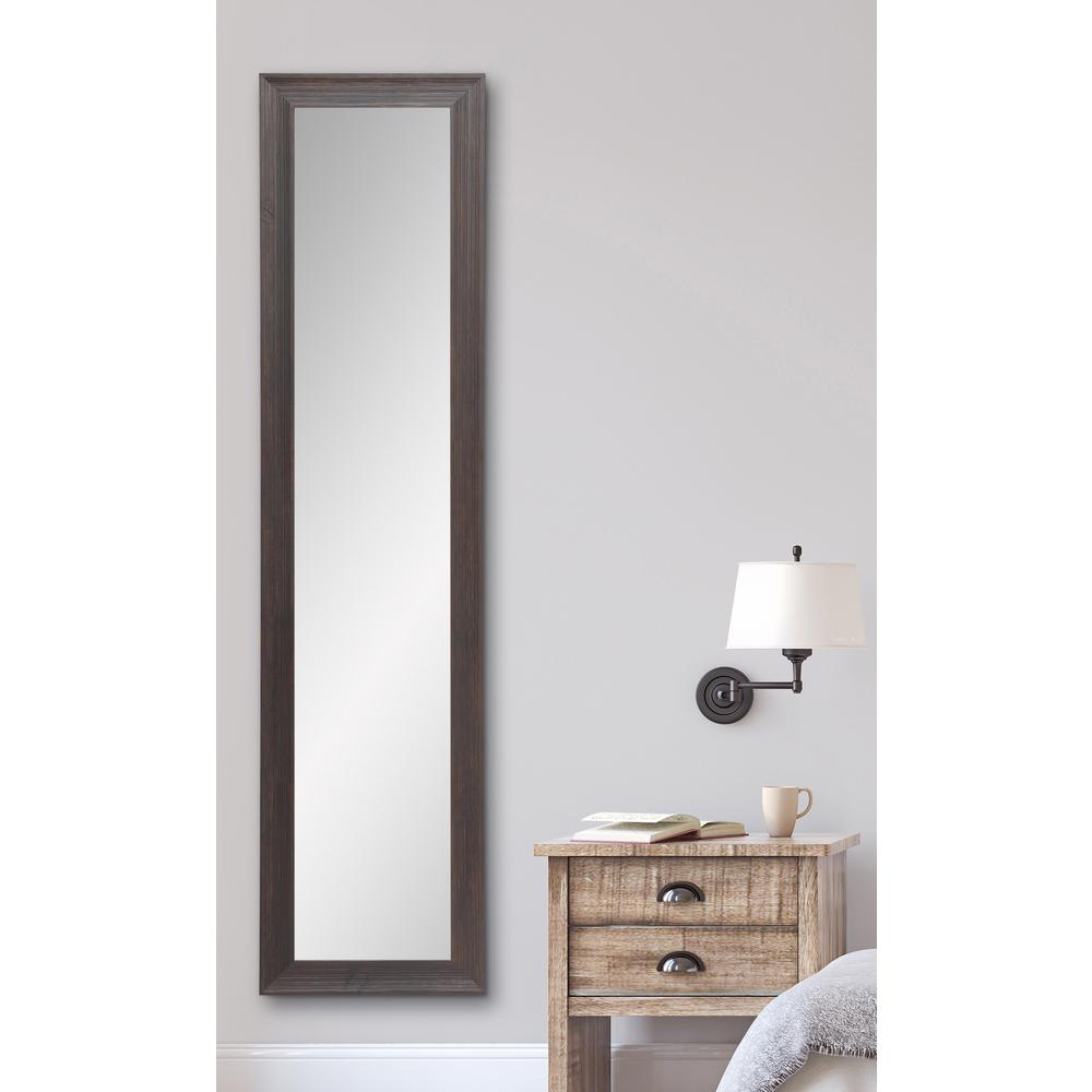 Rustic Espresso Full Length Framed Mirror Bm17skinny The