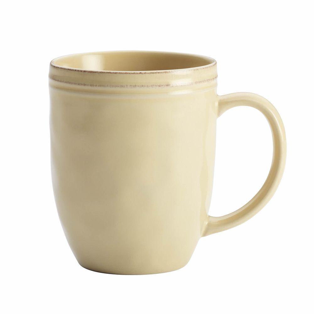 Rachael Ray Cucina Dinnerware 12 oz. Stoneware Mug in Almond Cream  sc 1 st  The Home Depot & Rachael Ray Cucina Dinnerware 12 oz. Stoneware Mug in Almond Cream ...