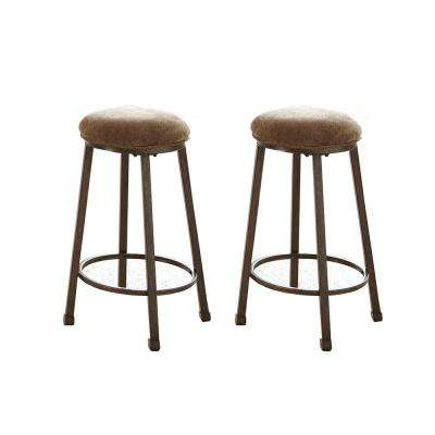 Omaha 26 in. Counter Brown Height Stool (2-Pack)