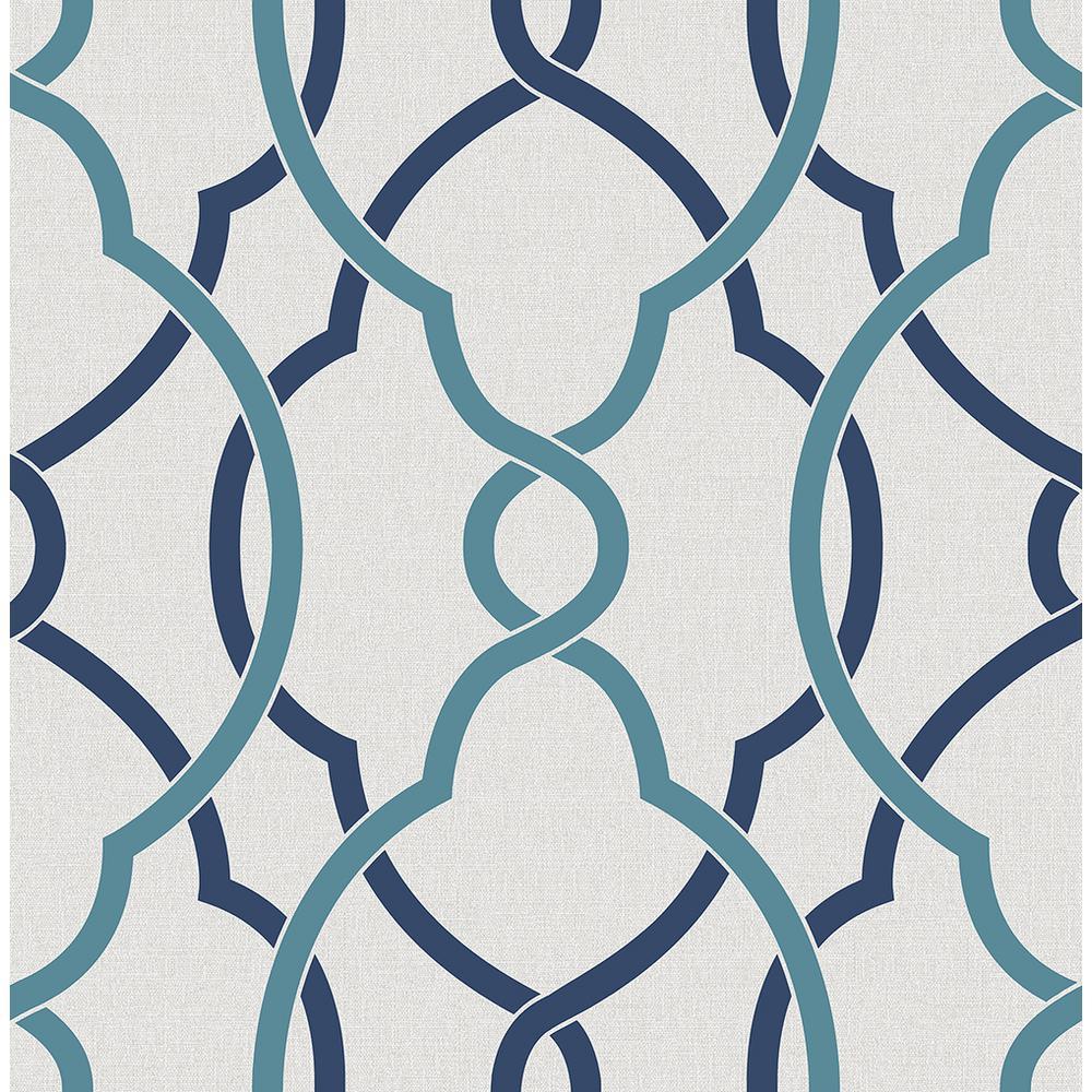 A Street Sausalito Navy Lattice Wallpaper 2697 22627 The