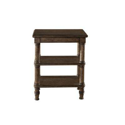 Seneca Walnut End Table - Baskets Not Included