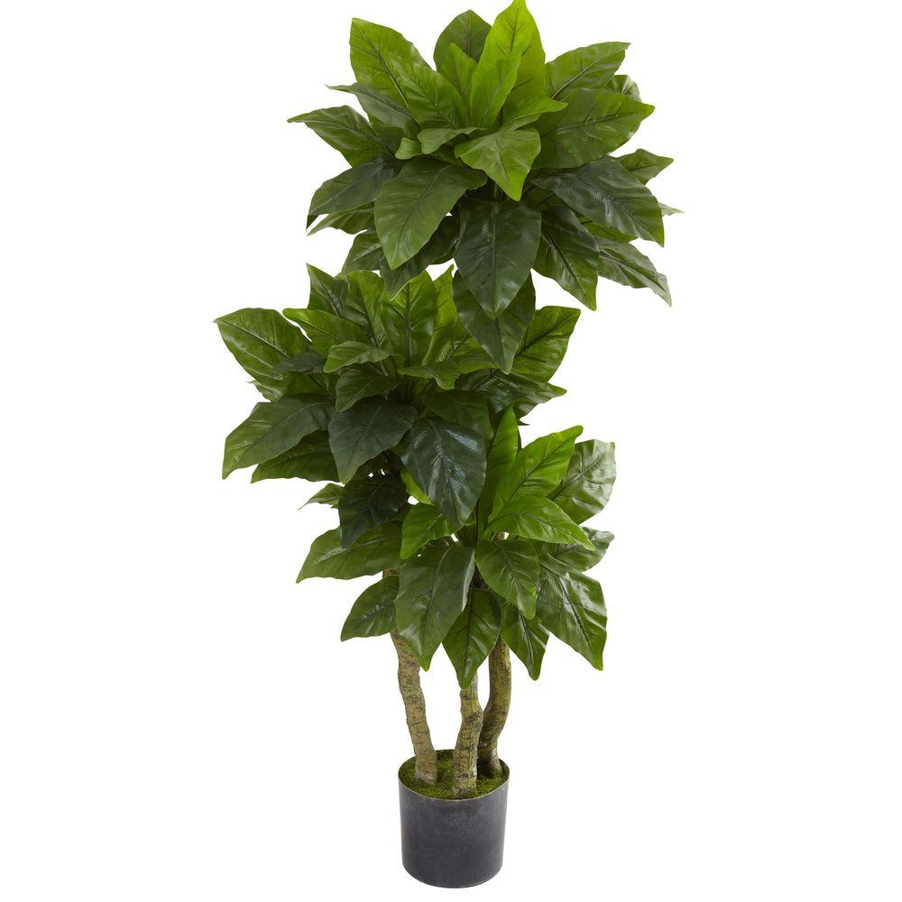 nearly natural 5 ft uv resistant indoor outdoor bird nest tree 5391 the home depot. Black Bedroom Furniture Sets. Home Design Ideas