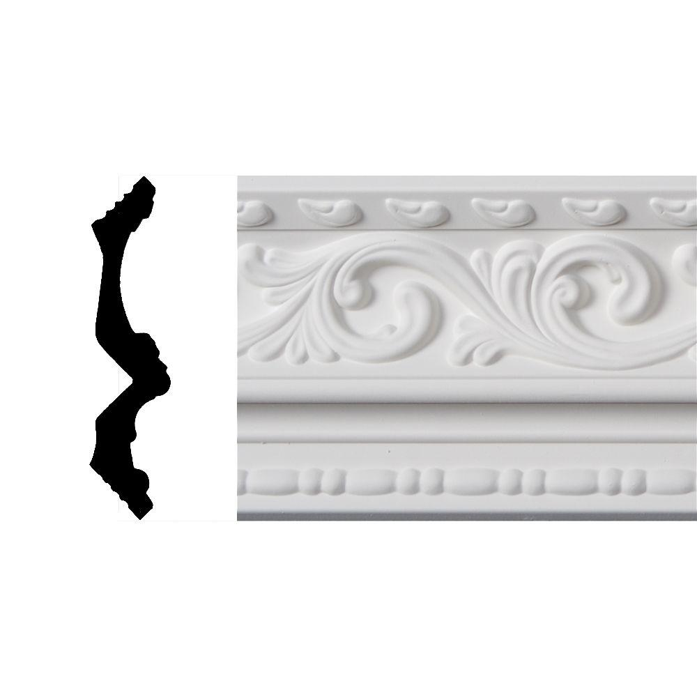 Lynea Molding Wave Collection 6 in. x 8 ft. Polyurethane Crown Molding