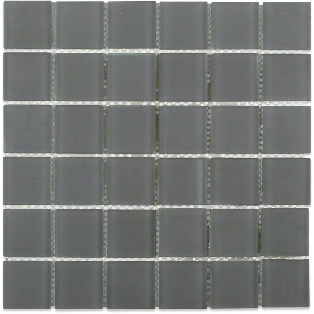 Splashback tile contempo smoke gray polished 12 in x 12 for 12 x 60 window