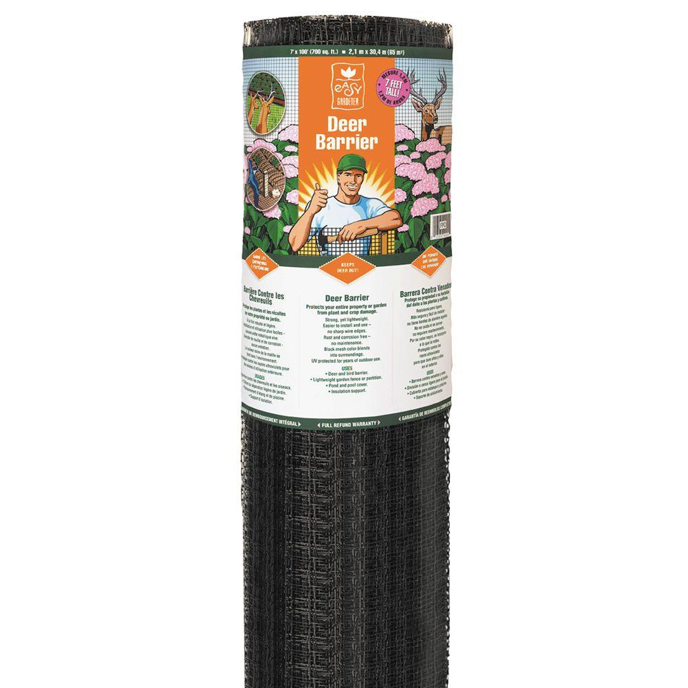 easy gardener 7 ft x 100 ft polypropylene deer barrier lg400171