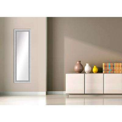 51.5 in. x 16.5 in. Stainless Silver Framed Mirror