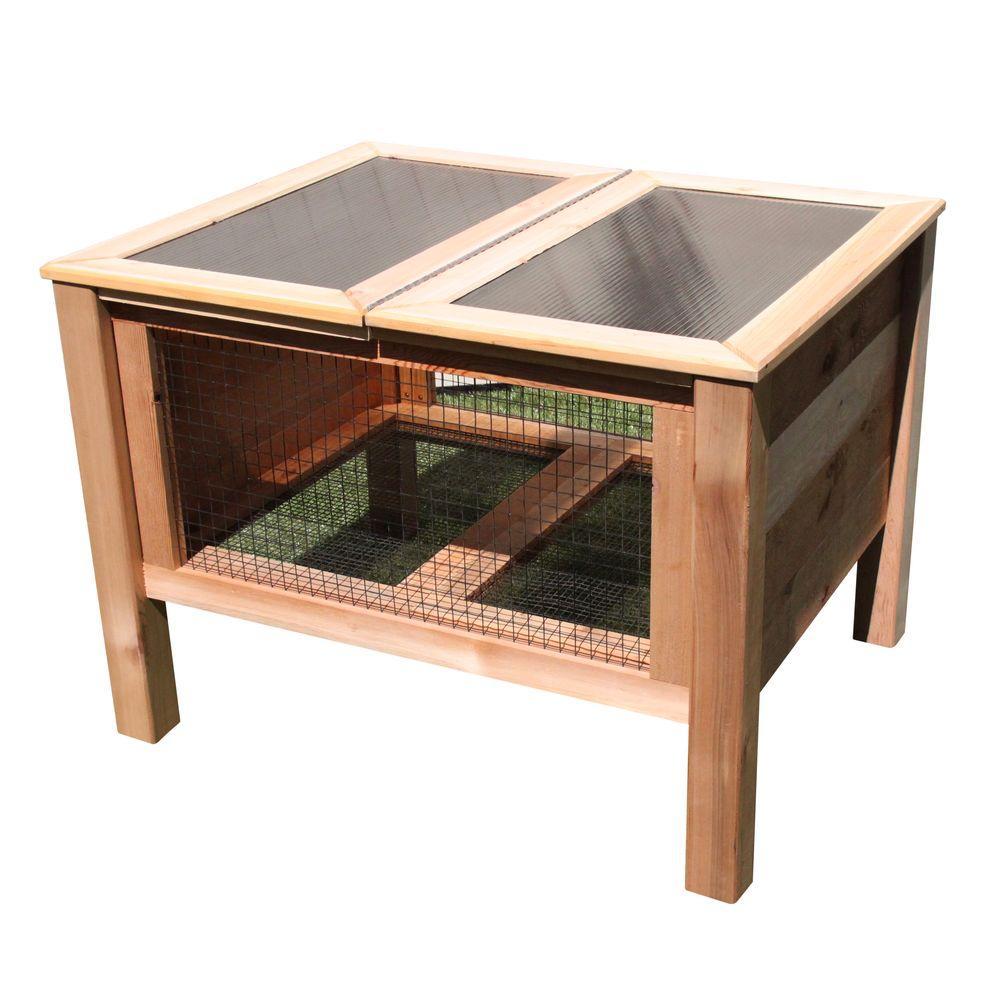 Gronomics 36 inch x 45 inch x 32 inch Rabbit Hutch by Gronomics
