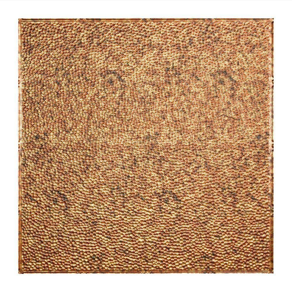 Hammered - 2 ft. x 2 ft. Lay-in Ceiling Tile in
