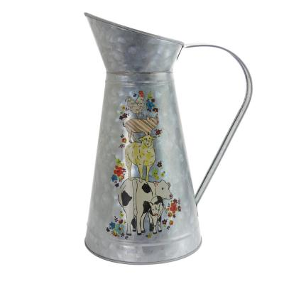 Life On The Farm 4.2 Qt. Antique Silver Pitcher with Large Handle