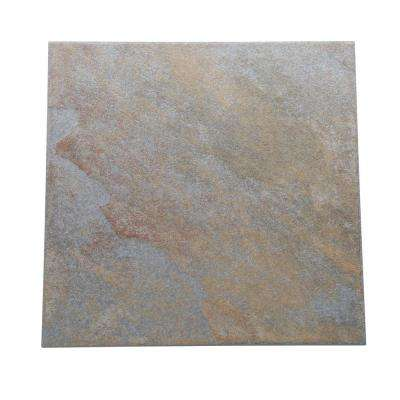 Continental Slate Tuscan Blue 12 in. x 12 in. Porcelain Floor and Wall Tile (15 sq. ft. / case)
