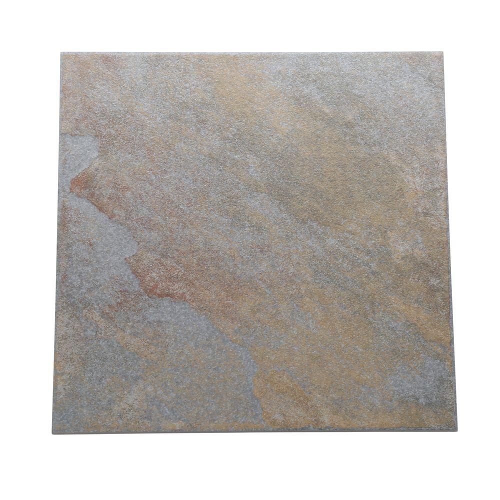 Continental Slate Tuscan Blue 12 in. x 12 in. Porcelain Floor
