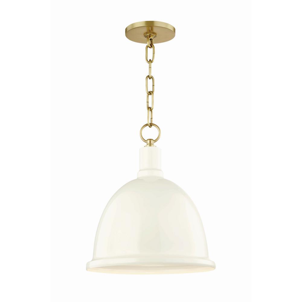 Mitzi By Hudson Valley Lighting Blair 1 Light 11 In W Aged Br Pendant