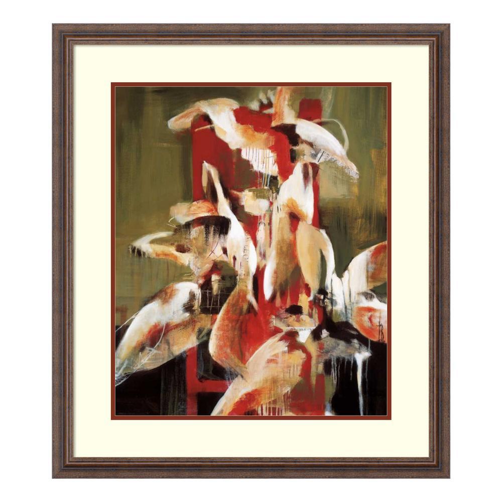 Amanti Art ''Tower of Flowers'' by Terri Burris Framed Wall Art