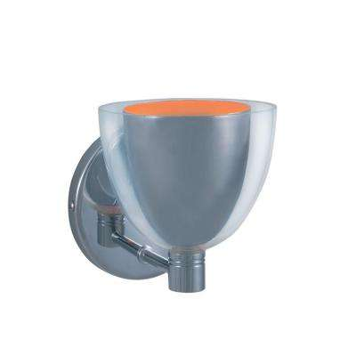 1-Light Low-Voltage Chrome/Orange Companion Wall Sconce