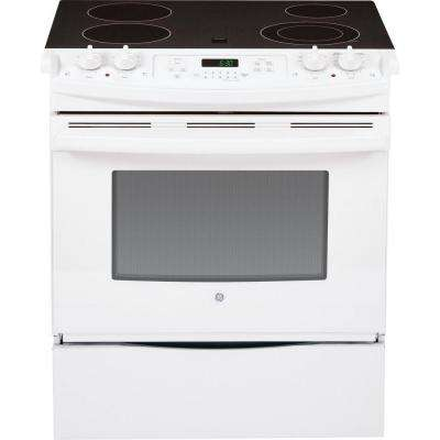 4.4 cu. ft. Slide-In Electric Range with Self-Cleaning Oven in White