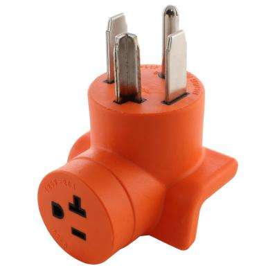 Dryer Outlet Adapter 4-Prong Dryer 14-30P Plug to Household 15/20 Amp 125-Volt T Blade Female Connector