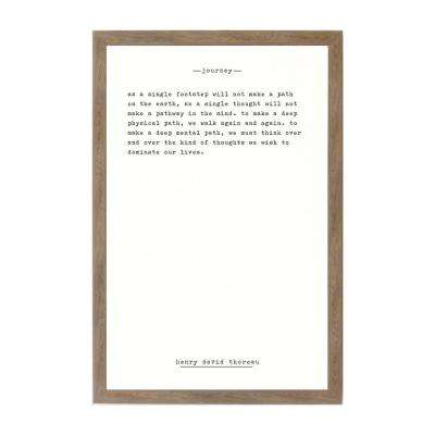 Journey - Thoreau Rustic Brown Frame Magnetic Memo Board