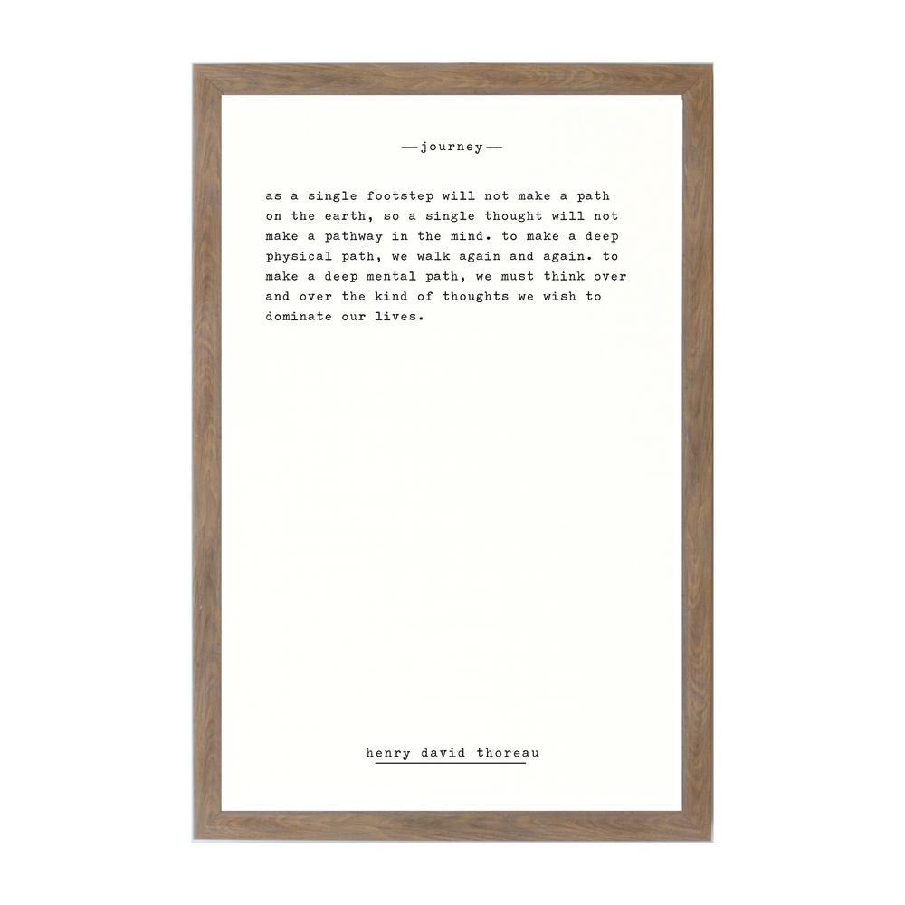 Journey - Thoreau Rustic Brown Frame Magnetic Memo Board