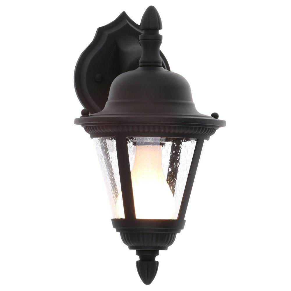 Progress Lighting Westport Collection 1 Light Outdoor Textured Black Wall Lantern