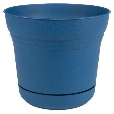 Blue Light Weight Large Plant Pots Planters The Home Depot