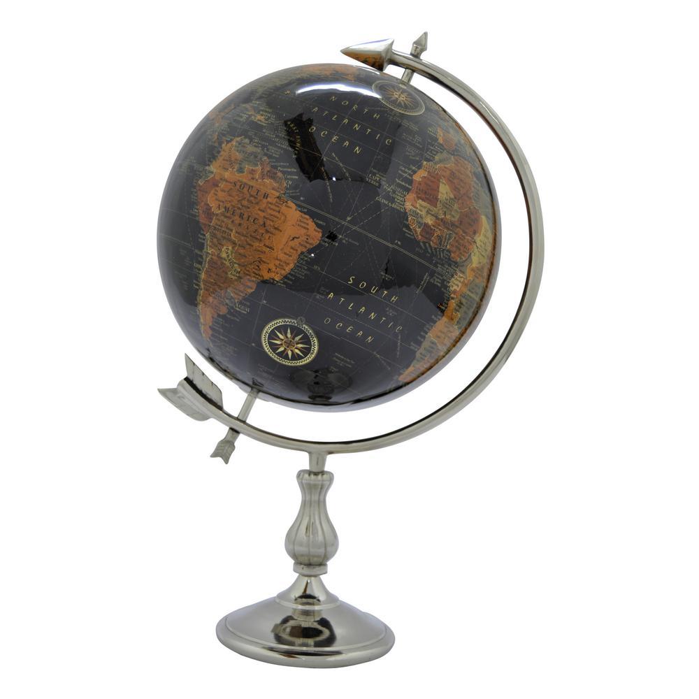 12 in. W Black Globe