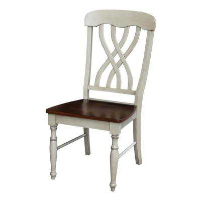 Latticeback Willow and Espresso Wood Dining Chair