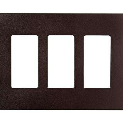 Designer 3-Gang Screwless Wallplate, Oil Rubbed Bronze