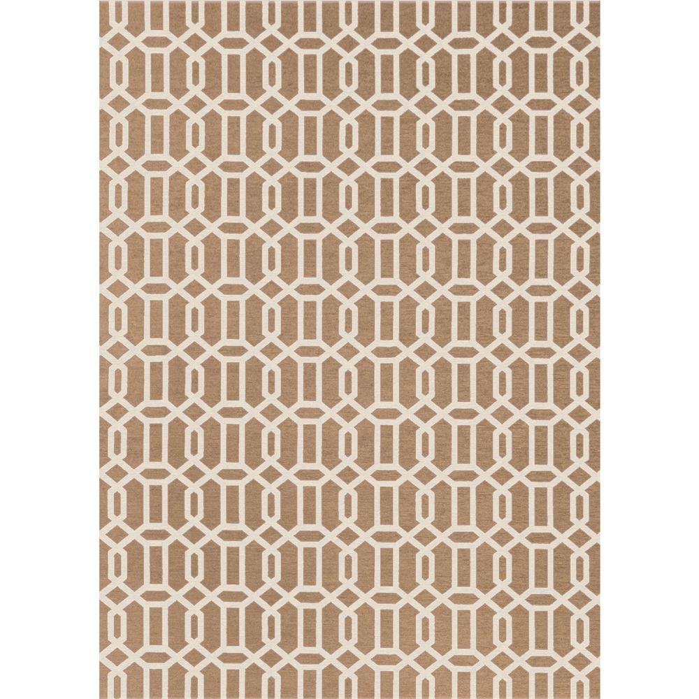 Ruggable Washable Fretwork Rich Tan 5 Ft X 7 Ft Stain